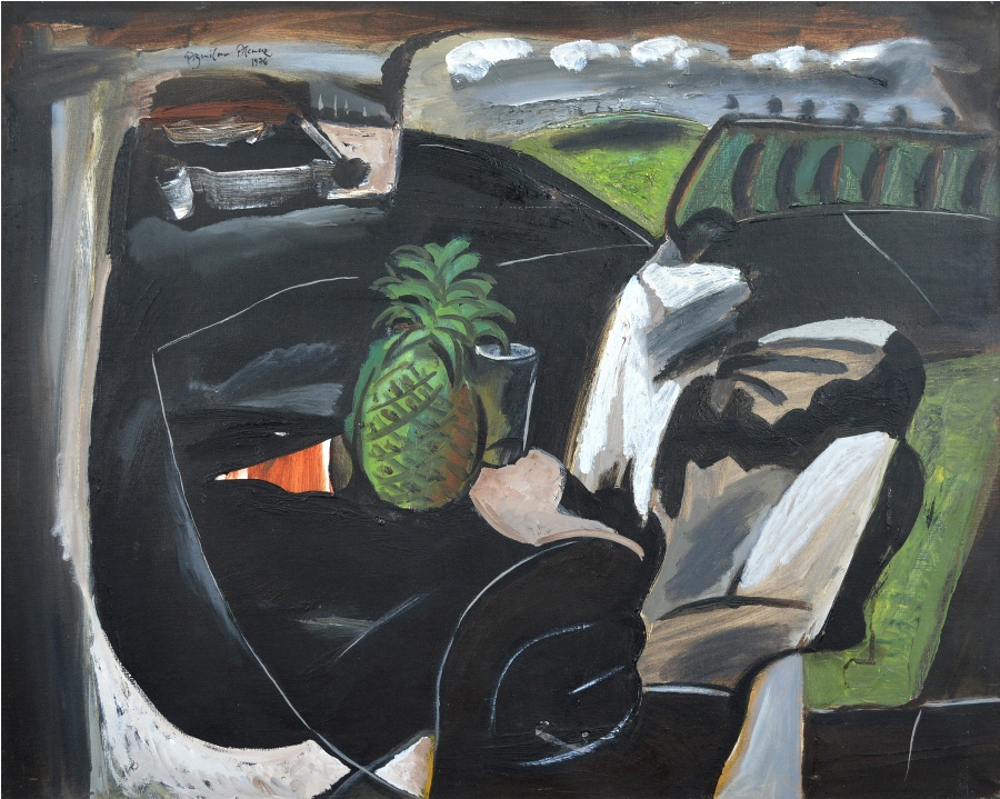 Tropical Fruit, Still Life, Table and Landscape