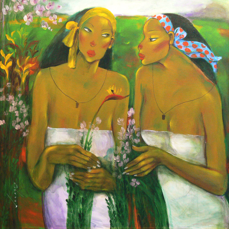 Two Women in the Garden
