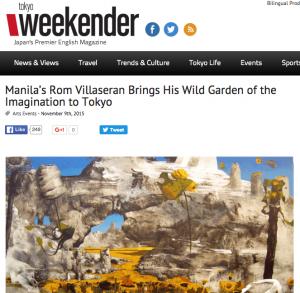 Villaseran_Tokyo Weekender_Manila's Rom Villaseran Brings His Wild Garden of the Imagination to Tokyo