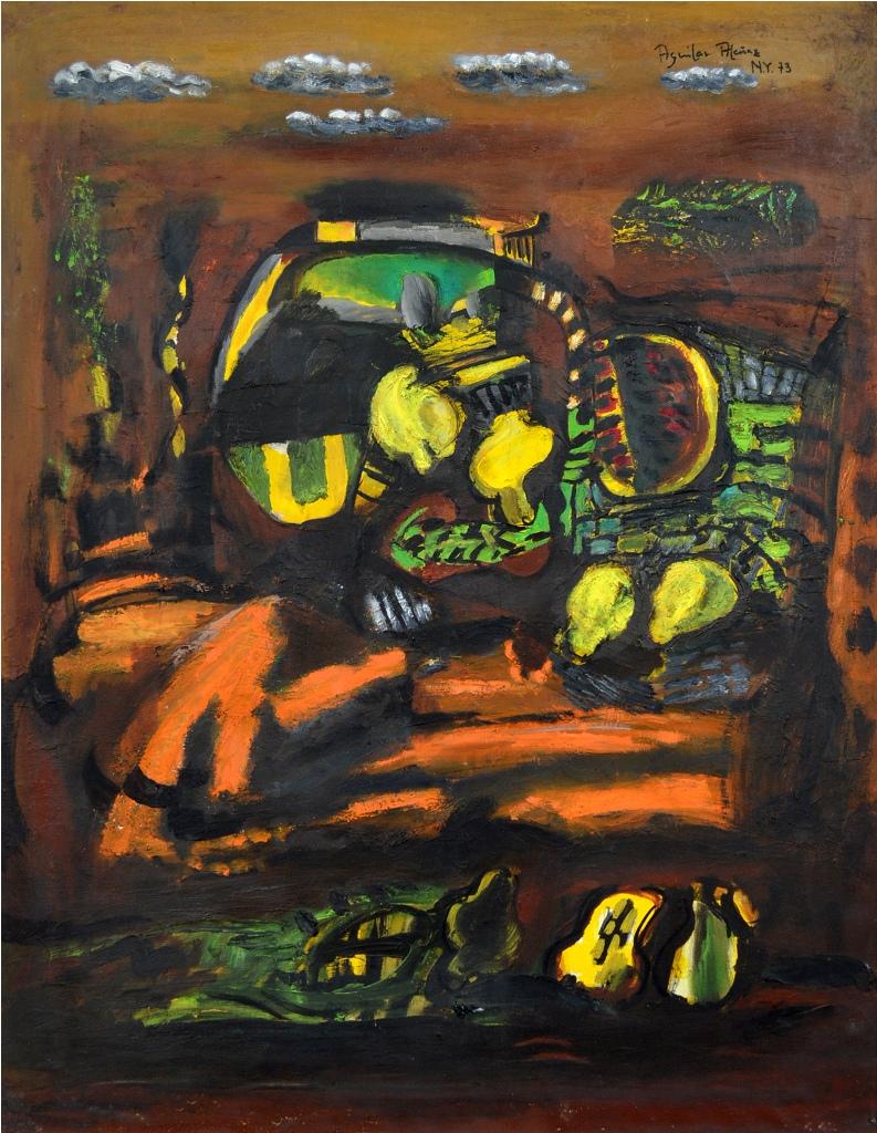 Lemons, Pears, Still Life and Landscape