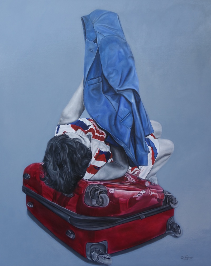 """""""Suit"""" 48 x 60 in., Oil on canvas"""