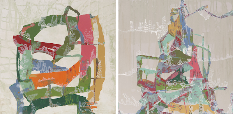 A Permanent Shift in Consciousness (diptych)
